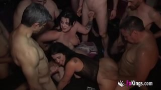 11 stallions and another Swinger Party with Montse and Maria