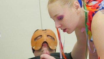 Anal Pinata Girl — hot blonde punished