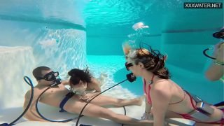 Eva Sasalka and Jason being watched underwater while fucking