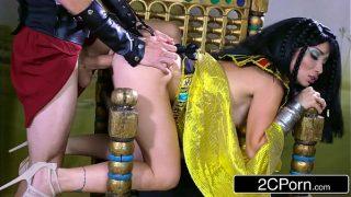 Exotic Egyptian Goddess Rina Ellis Commanding Her Servant to Fulfill Her Desires
