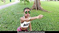ExxxtraSmall – Cute teen Ebony rides on Big Cock porn video
