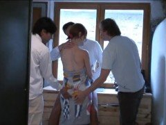 Gave wife friends group gangbang home sex tape