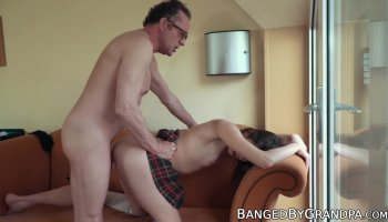 Grandpa and young babe seduces doggystyle sex videos
