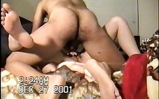 Hairy horny sister in law fucked at X-Mas reunion VHS wife