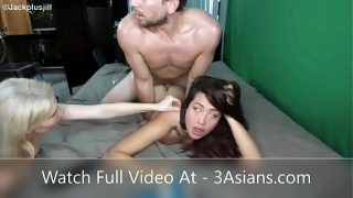 Her eyes rolling from hard anal fuck