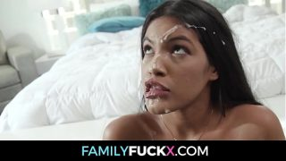 Horny Hindu babe Breaks Up With Her Bf To Fuck Her Big Cock Stepdad