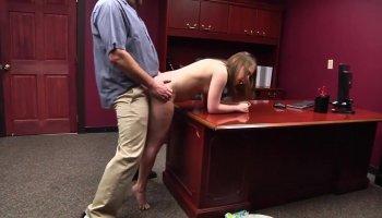 Hot Teeny girl sex in office