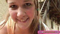 Lovely teenager farm girl fucking outdoors public sex videos