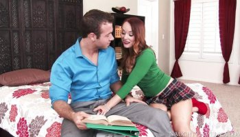 Private lessons at home with a wanton bitch Dani Jensen