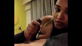 Sexy Desi Girl Sucking her boy friend Cock