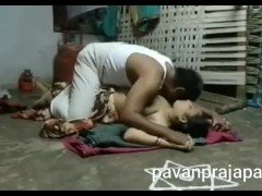 Telugu daddy sex in home kitchen with loud moan in saree