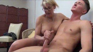 VIRGIN TEENAGER FUCKS HIS HORNY GRANNY!! incest porn