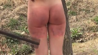 British redhead Jasmine James tries to swallow his meat